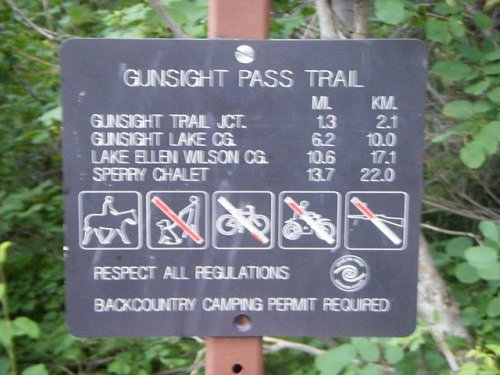 Gunsight Pass Trail Sign