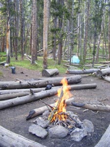 backcountry campground in yellowstone