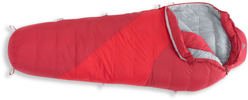 kelty dridown 16 sleeping bag in red