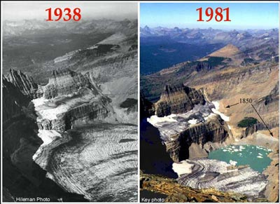 Grinnell Glacier comparison 1938 vs 1981