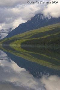 Bowman Lake mountains
