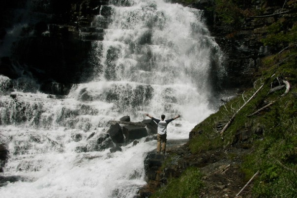 Gunsight Natural Waterfall Photo