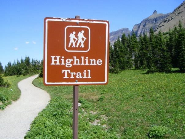Beginning of Highline Trail