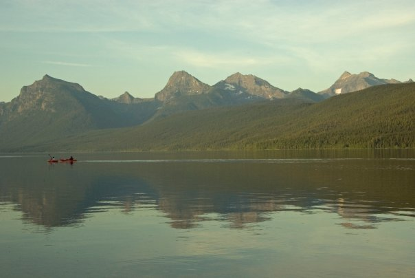 Photo of Kayakers in Lake McDonald