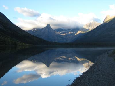 A picture I took from the Cosley Lake Campsite looking back at the trail.