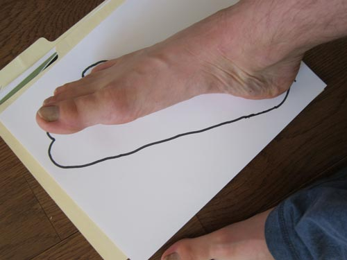 traced foot