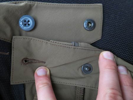 double buttoning pants