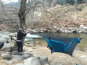 Easy set up camping hammock