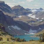 glacier national park painting